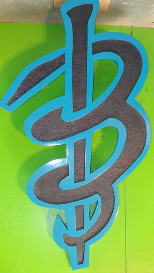 SA28593 - Large Carved HDU Logo Plaque  for a Business