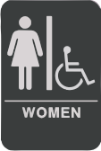 Restroom Sign w/Chair - Women