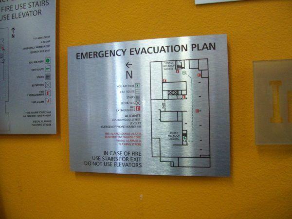 Direct Print Evac Plaques