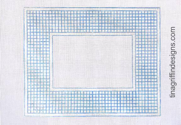 Blue and White Check Frame