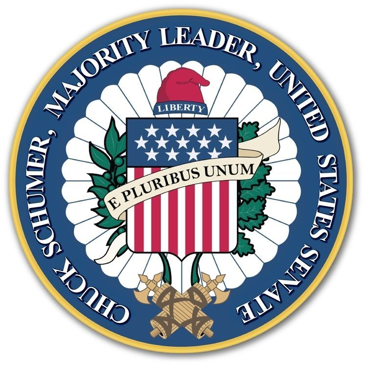 AP-2036 - Carved 3-D Plaque of the Seal of the United States Senate for Majority Leader Chuck Schumer