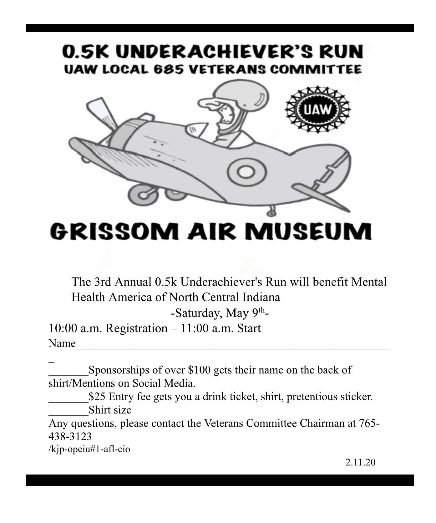 0.5k Underachiever's Run - Hosted by UAW Local 685
