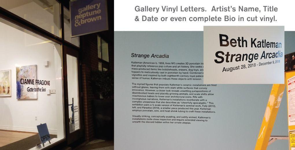 Gallery Vinyl Letters