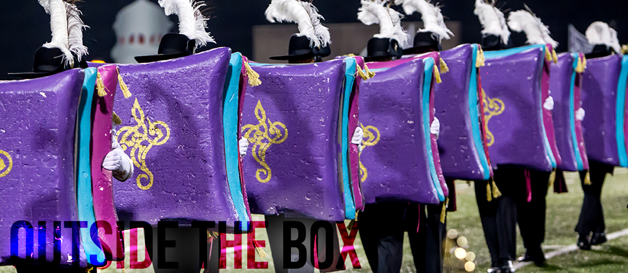 Outside the box props marching band winterguard marching arts