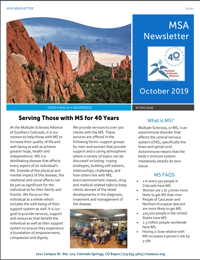 MSA Newsletter