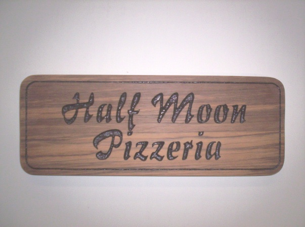 Q25345 - Carved Wood Sign for Pizzeria