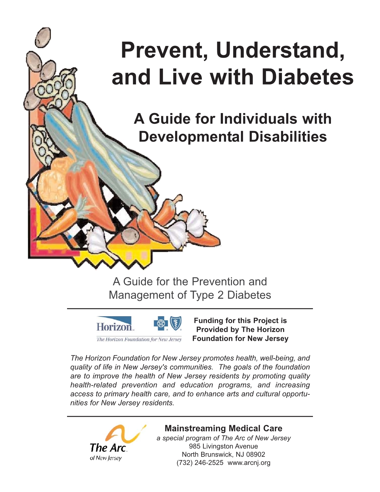 Prevent, Understand, and Live with Diabetes_A Guide for Individuals with Developmental Disabilities - English