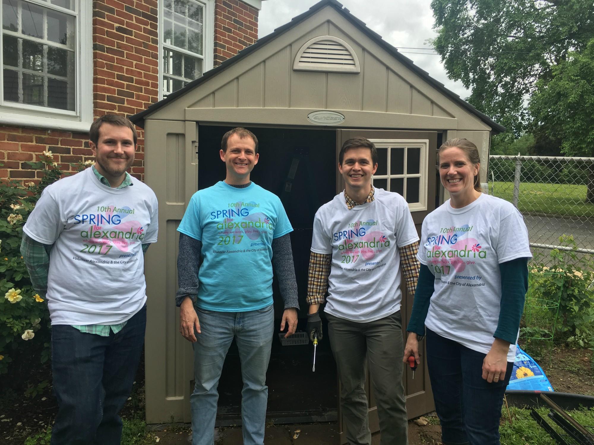 Volunteers Beautify ADAPT Clubhouse Garden