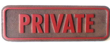 KA20621 - Carved Wood Private Office Sign