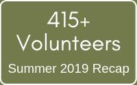 2019 Volunteer #s