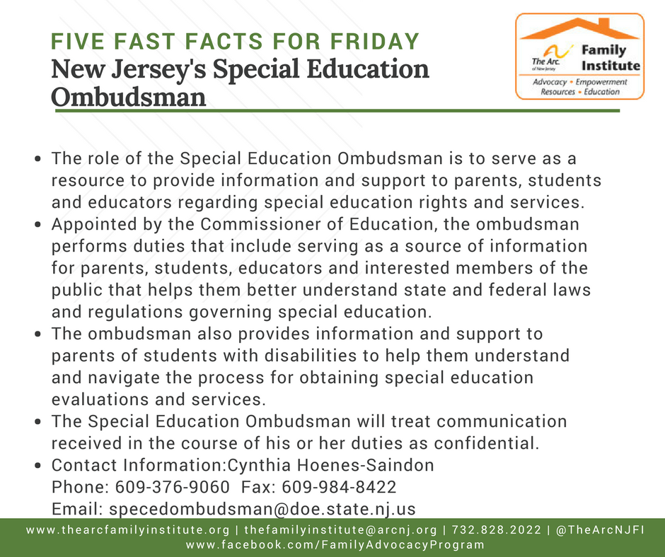New Jersey's Special Education Ombudsman