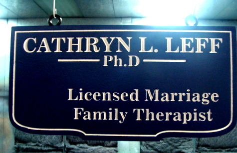 B11237 - Hanging Engraved Wood Sign for Marriage Family Therapist