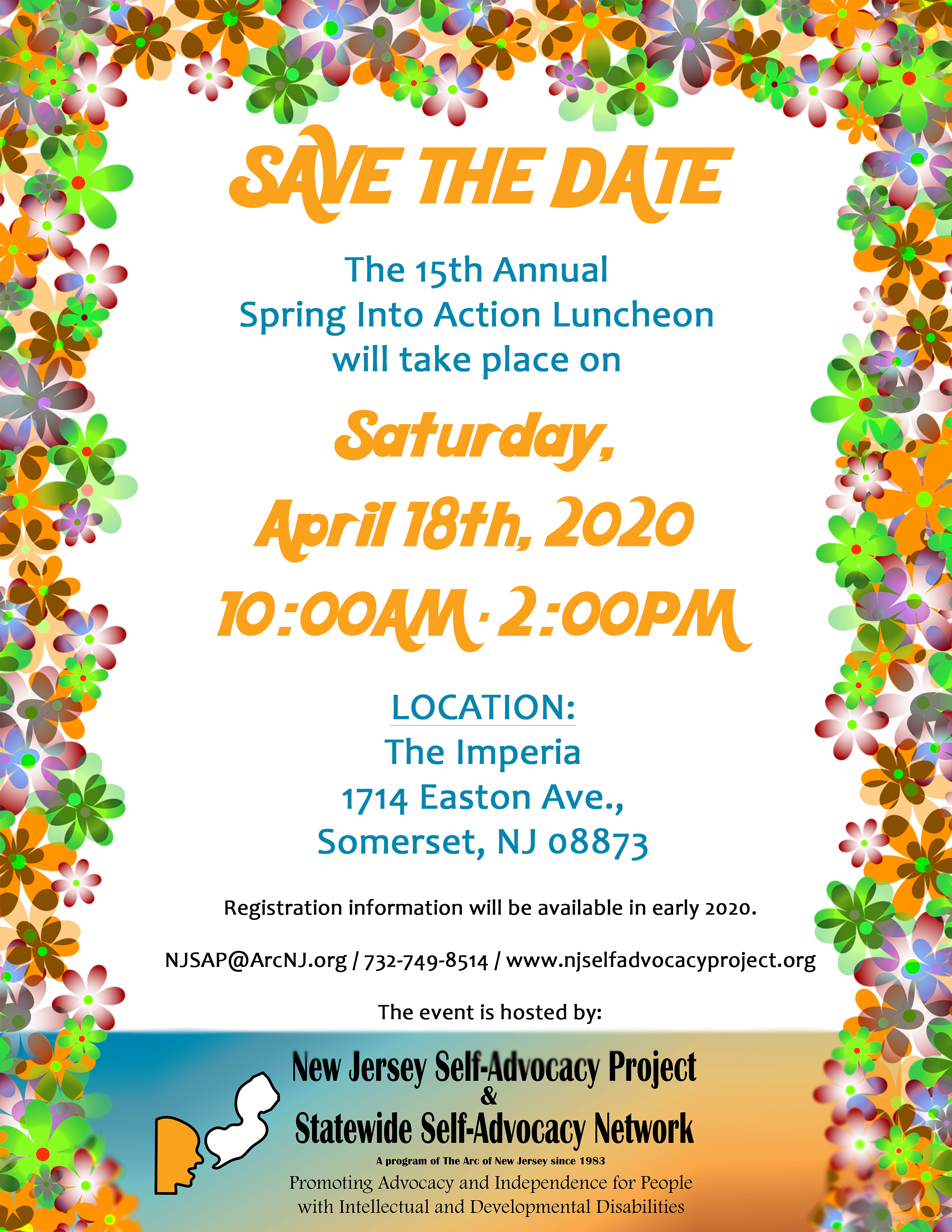 Spring Luncheon Save the Date 2020