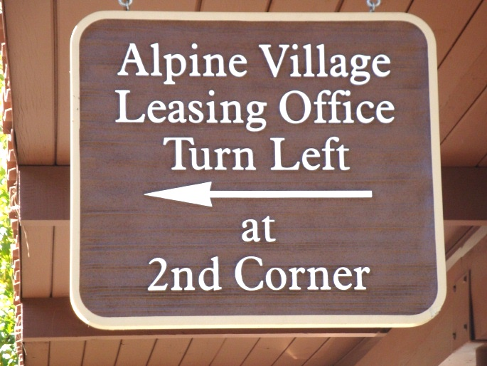 KA20590 - Carved  HDU Wayfinding Sign with Arrow