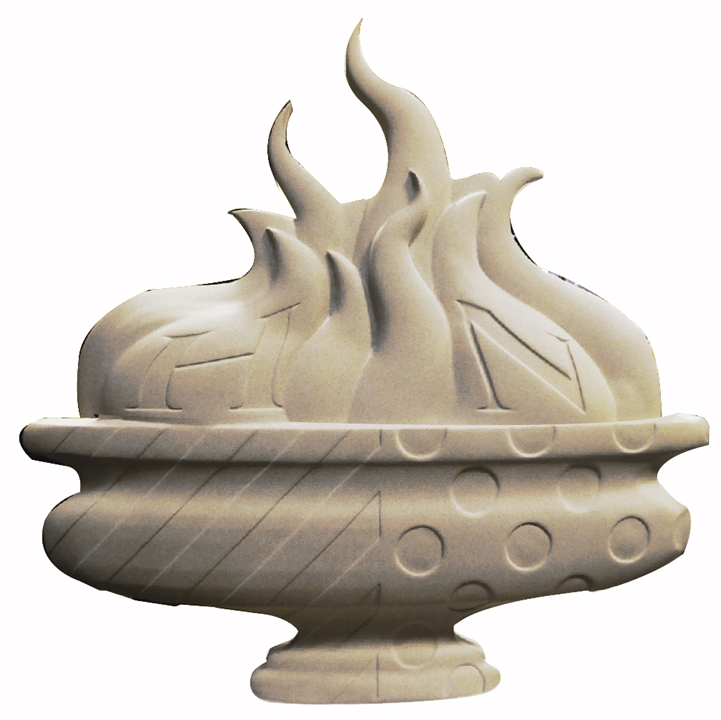ZP-6070 - Artwork of an Eternal Flame for a  Memorial Wall Plaque