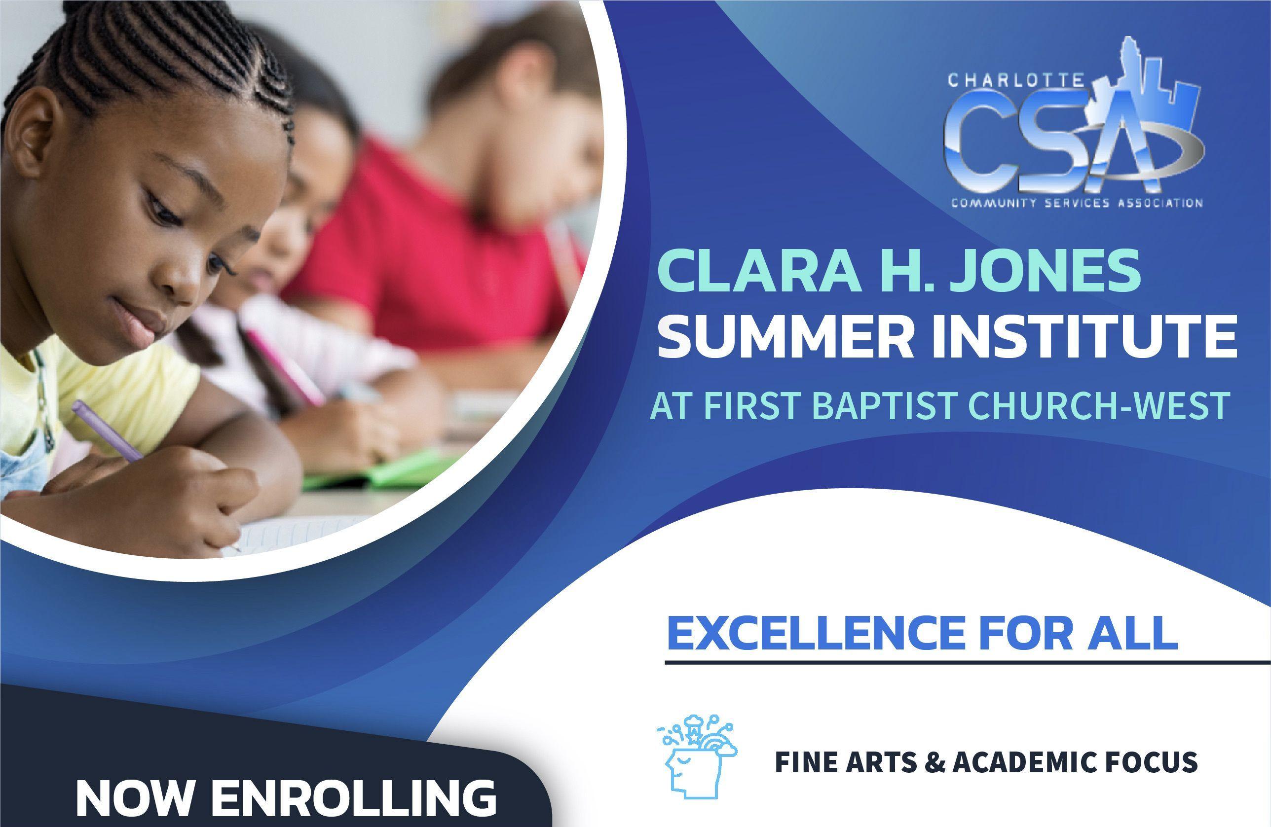 Clara H. Jones Summer Institute