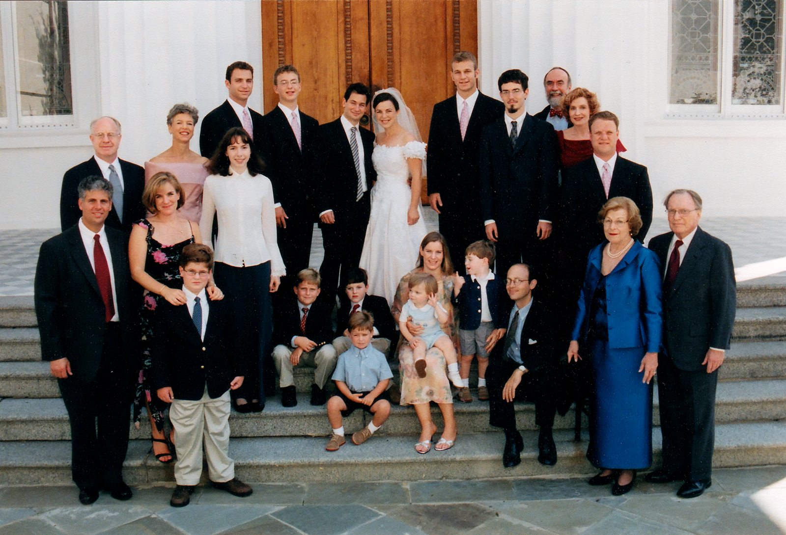 Rabbi Nussbaum and family at her wedding, 2003.
