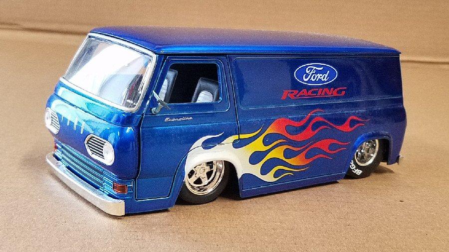 Jada Toys Dub City 1/24th Scale Ford Racing Econoline - Blue