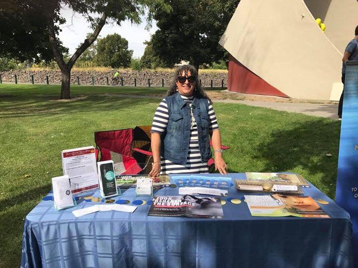 Sharing our resources at Finding Your Community  2017