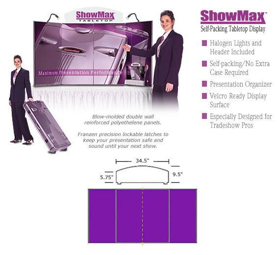 Exhibit Prezenta Show Max Briefcase Presentation System