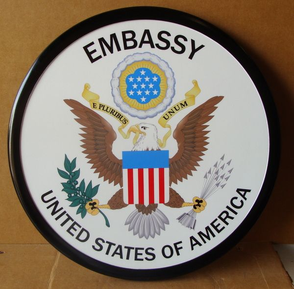 U30303 - 2D Wall Plaque of the Great Seal of US Embassies