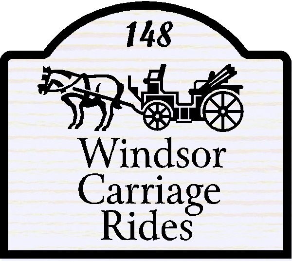 SA28457 - Design of Sign for Carriage Rides with Horse and Carriage