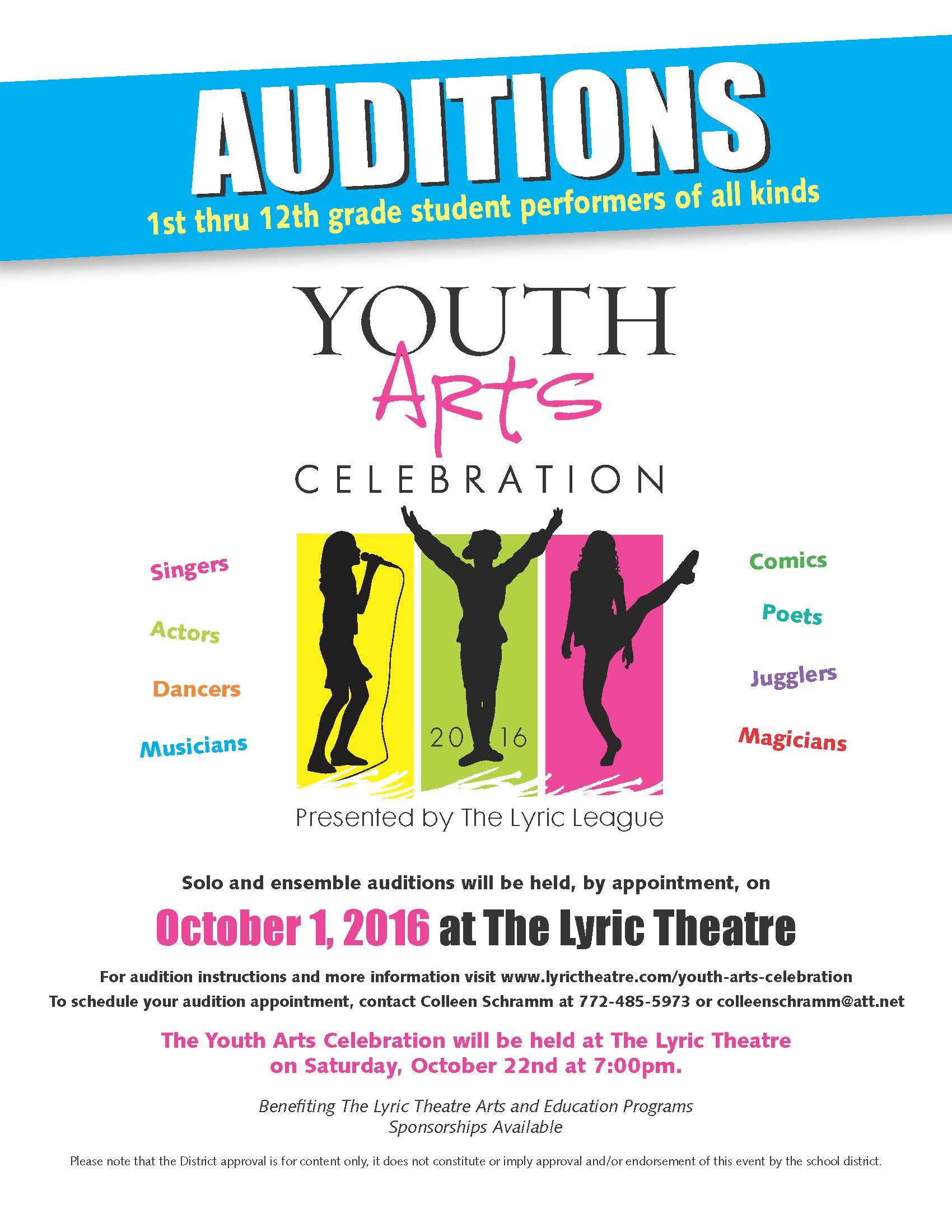 Auditions: Youth Arts Celebration