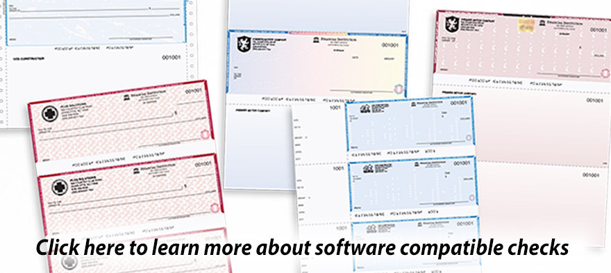 laser checks, custom checks, continuous, security checks quickbooks compatible