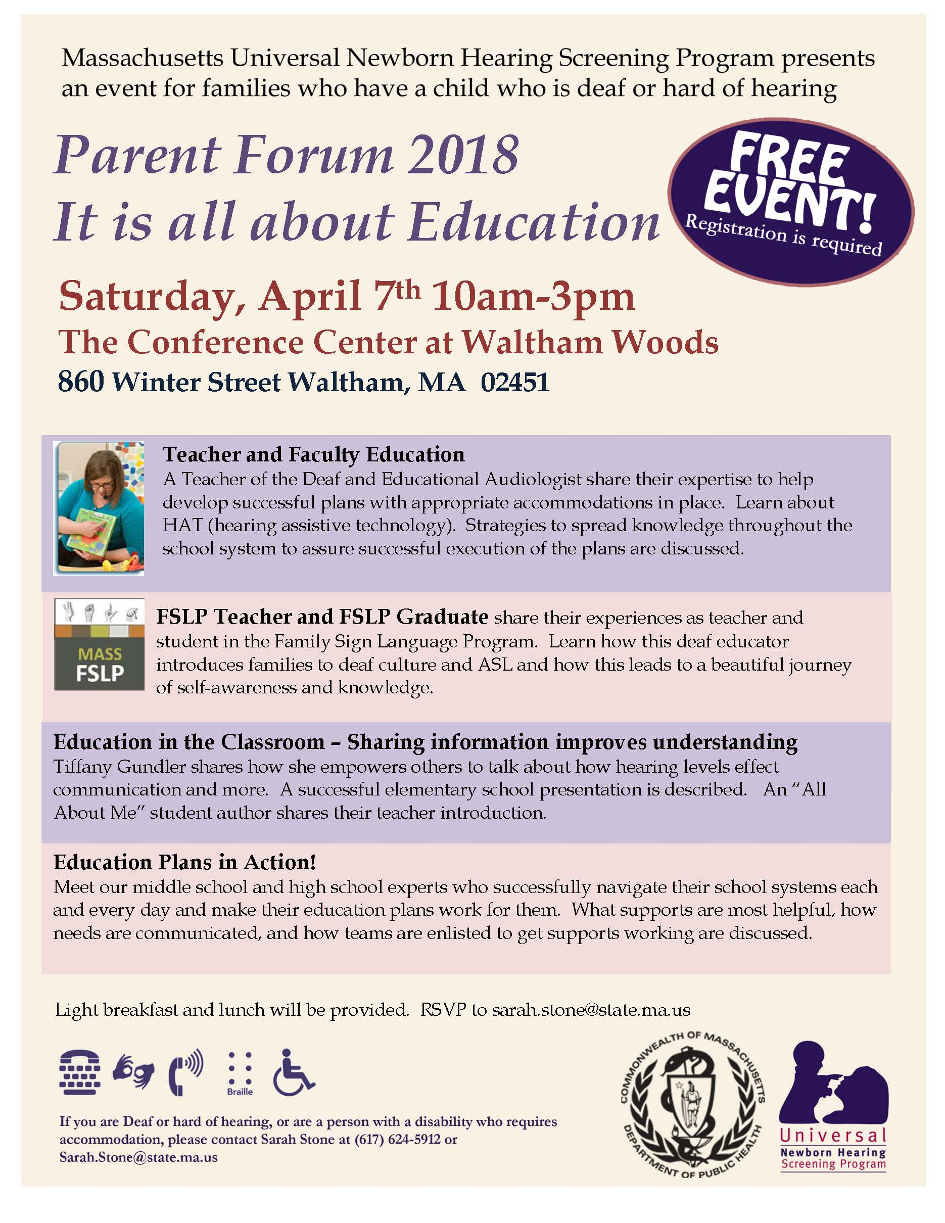 Parent Forum 2018 - It Is All About Education