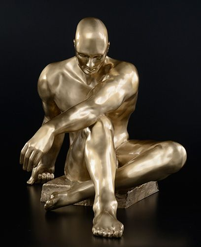 "Atlas, cast bronze, 36""H x 24""W x 24""D"
