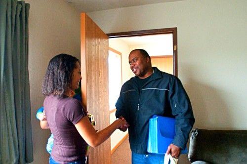 Community Advocates home visit Project Bridge