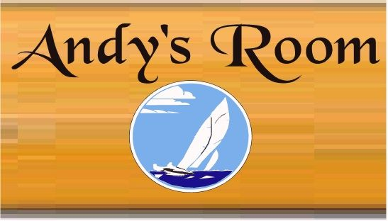 N23020 - Design of Carved Wood Plaque for Boy's Room with Sailboat