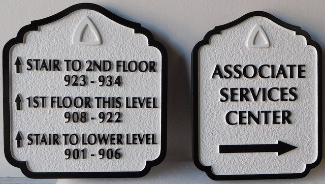 T29414 - Carved and Sandblasted  HDU Wayfinding Resort Hotel Signs