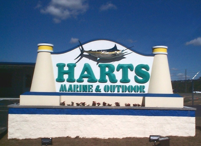L21510 - Marine Supply Store Monument Sign with Sailfish