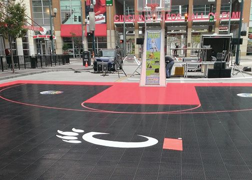 University of Cincinnati Bearcats Outdoor Basketball Court Graphics