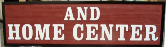 SA28563 - Carved Home Center Sign