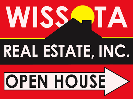 Wissota Real Estate Open House Sign