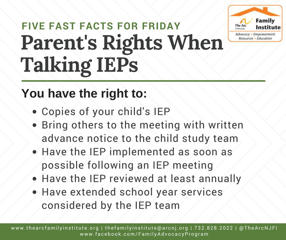 Parent's Rights When Talking IEPs