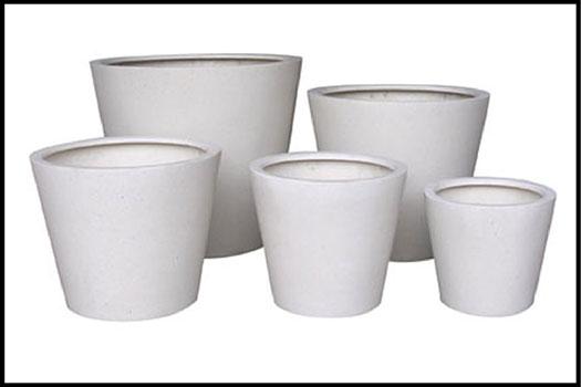 Round Planters White