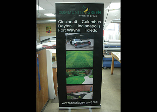 Community Green Landscape Banner STand 1