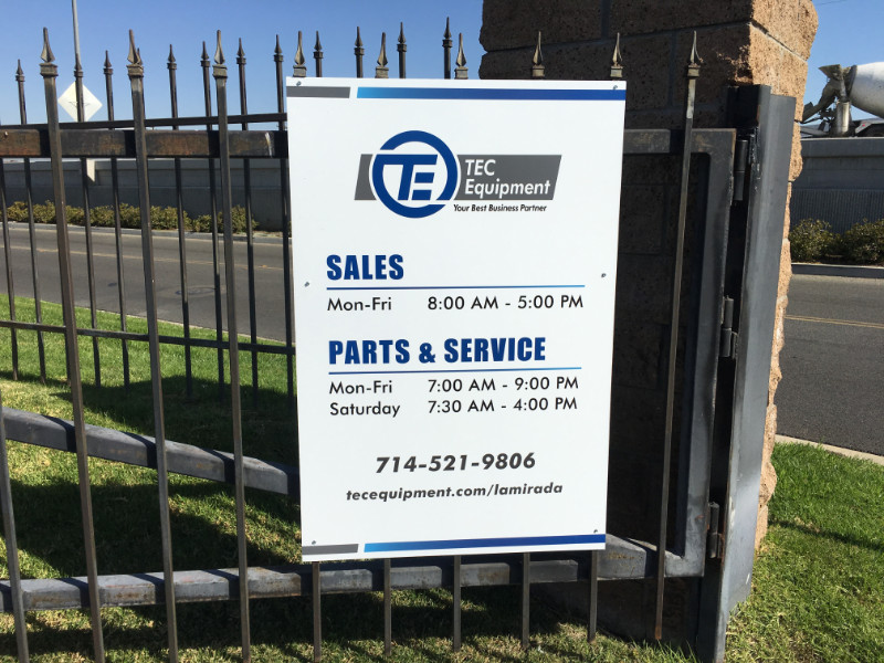 Gate and Logo Signs for Auto Dealers in La Mirada CA