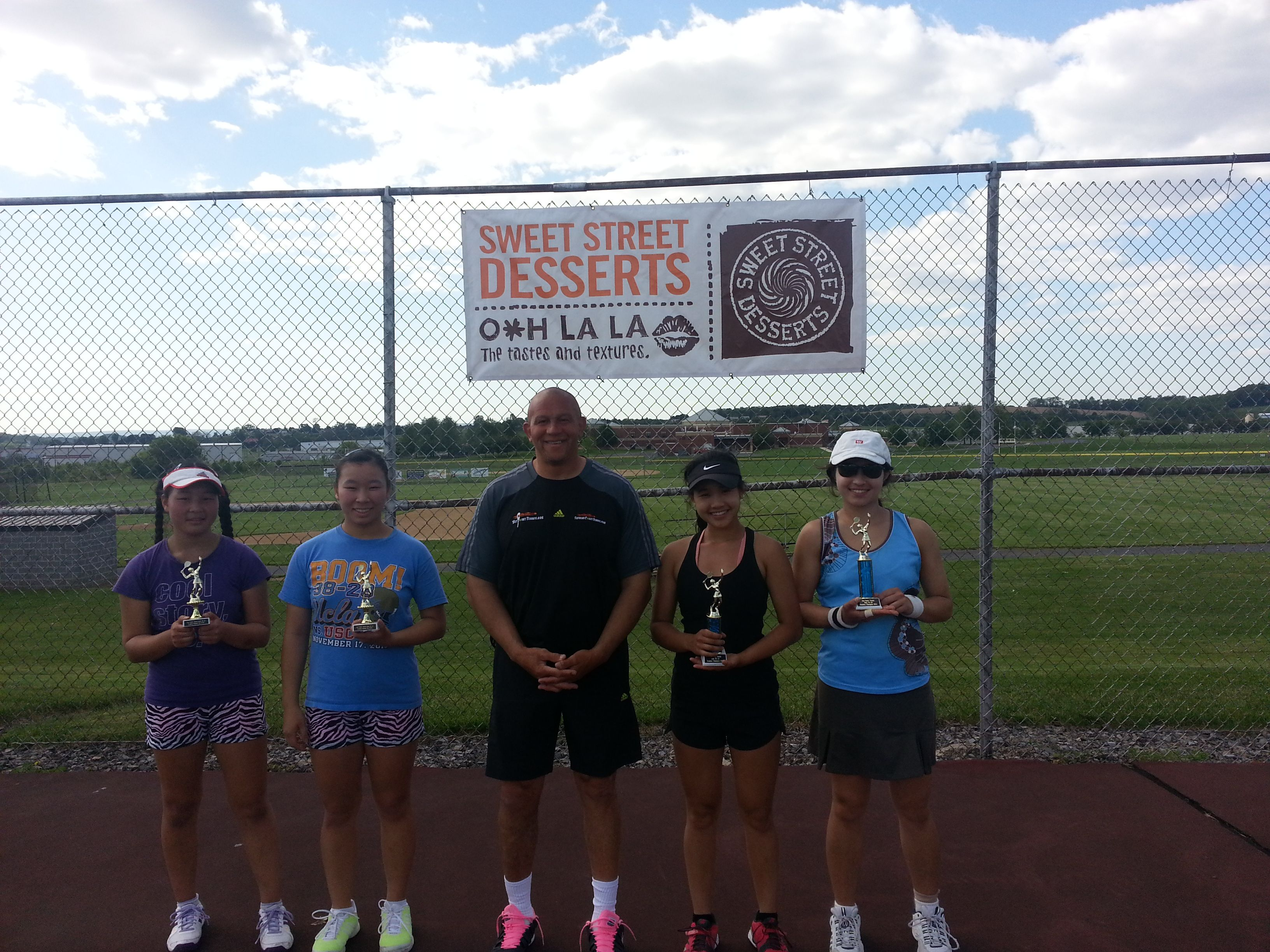 Set Point Tennis Open Tennis Tournament Girls 16 Doubles Champion and Runnerup