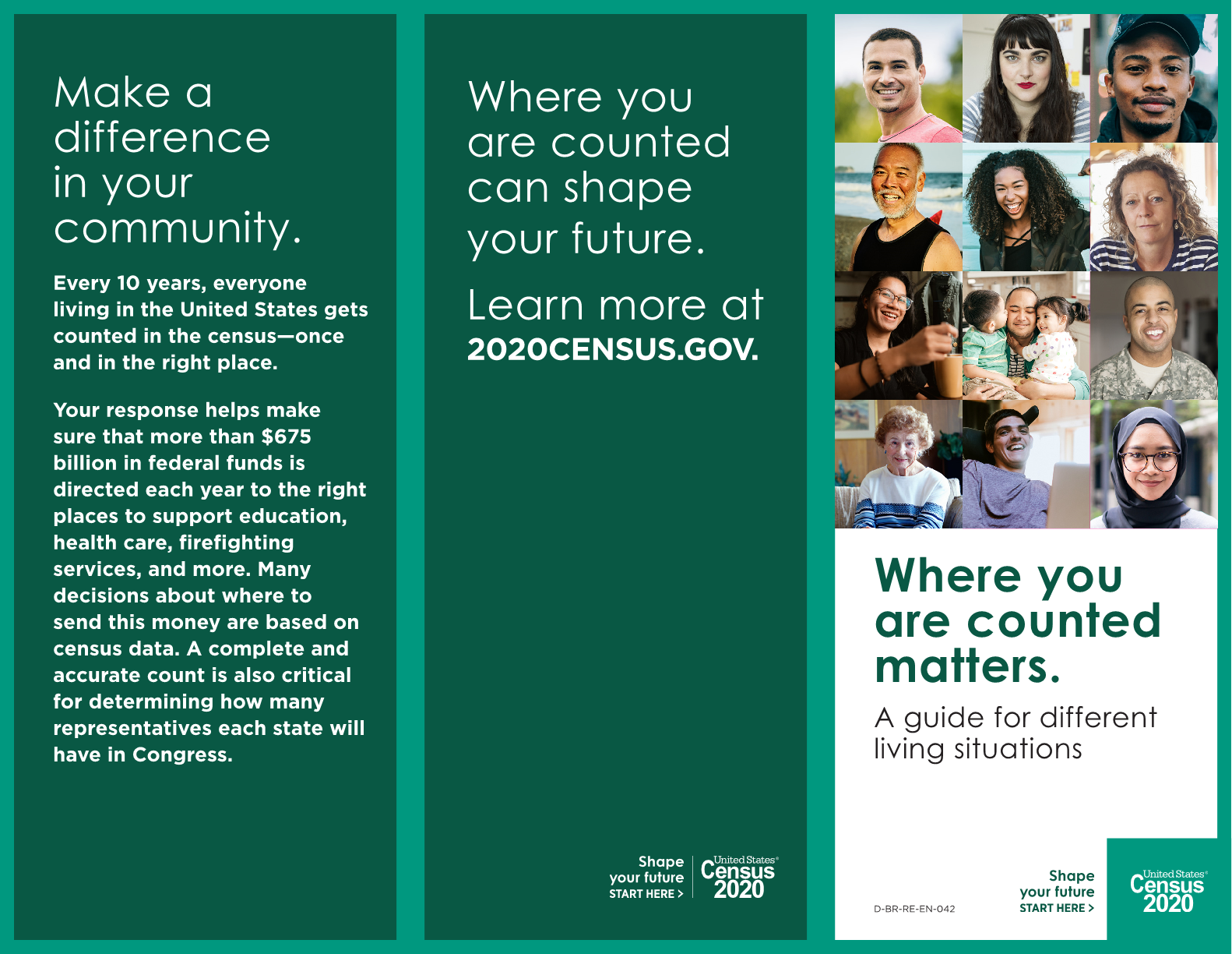 Where you are counted matters. A guide for different living situations
