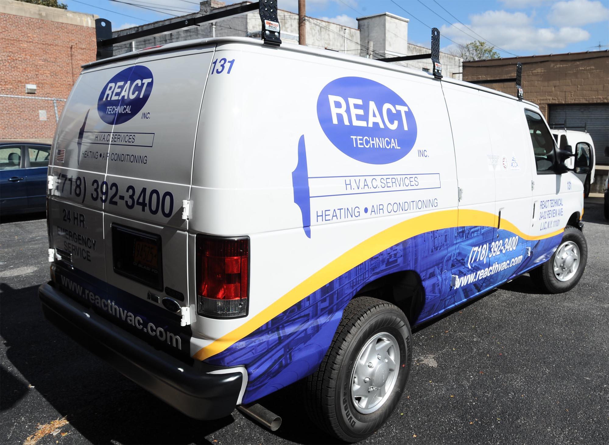 React Van Back