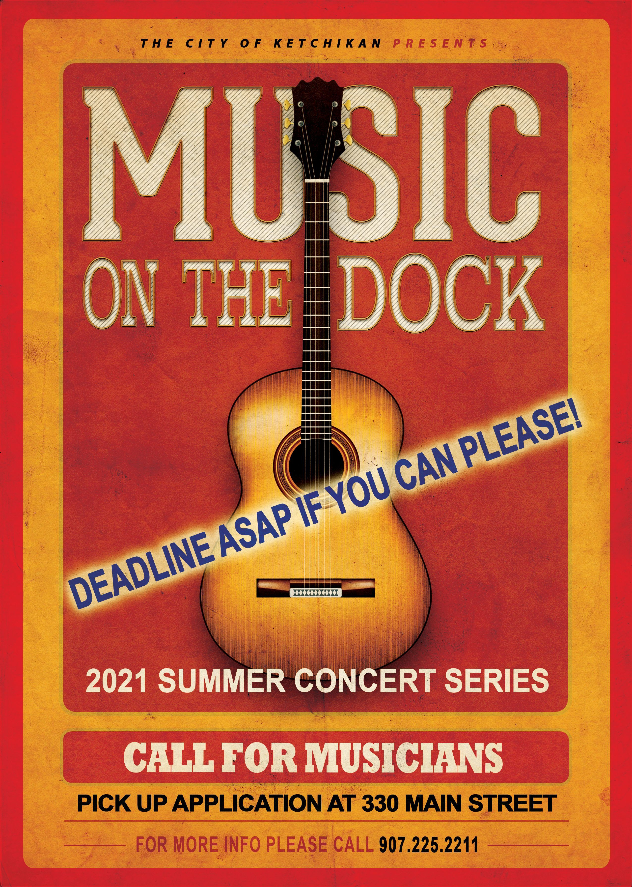 Call to Musicians - 2021 Music on the Dock!!!!!!