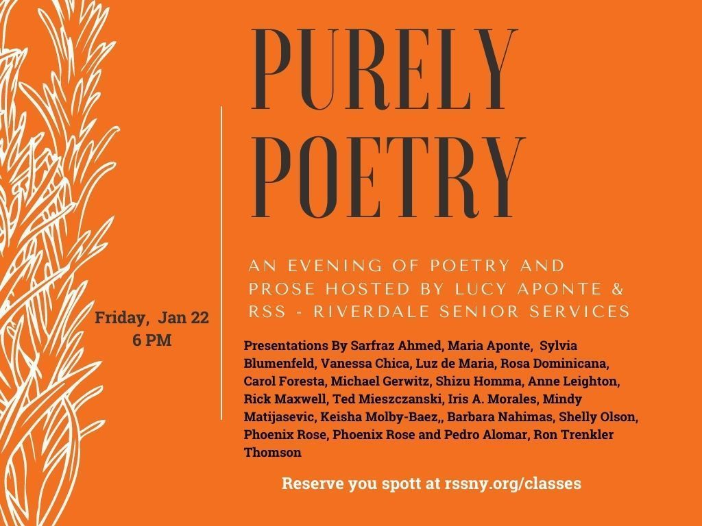 Purely Poetry: An Evening of Comfort and Prose Hosted by Lucy Aponte