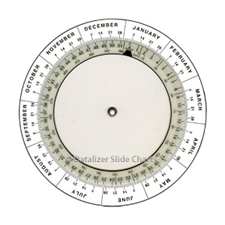 "4"" Plastic Date Calculator"