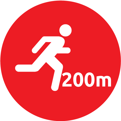 200 Meter Walk or Run