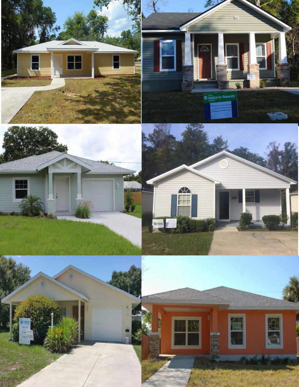 Gallery of images built through Habitat for Humanity of Florida