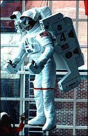 Astronaut in MMU